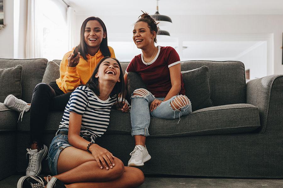 girls happy living together