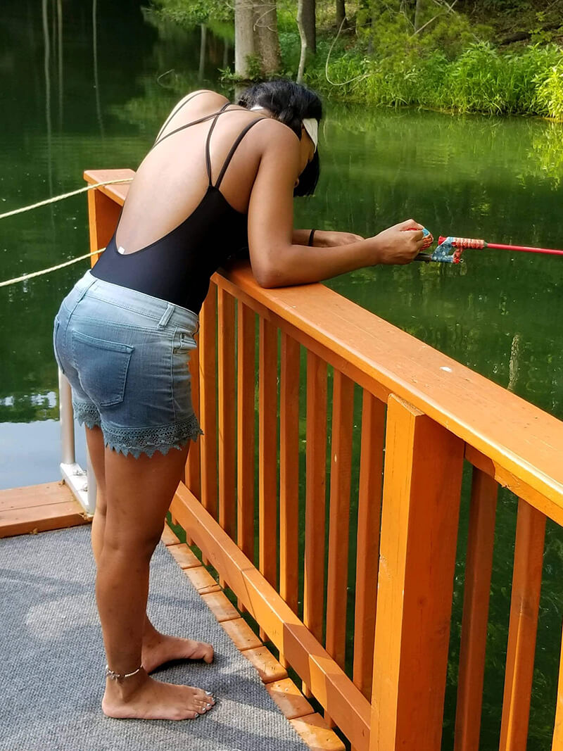 fishing off the dock